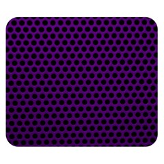 Dark Purple Metal Mesh With Round Holes Texture Double Sided Flano Blanket (small)