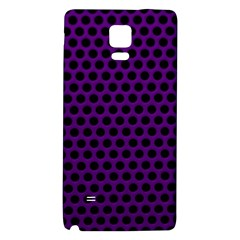 Dark Purple Metal Mesh With Round Holes Texture Galaxy Note 4 Back Case