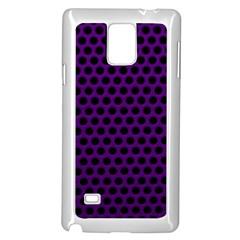 Dark Purple Metal Mesh With Round Holes Texture Samsung Galaxy Note 4 Case (white)