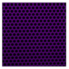 Dark Purple Metal Mesh With Round Holes Texture Large Satin Scarf (square)