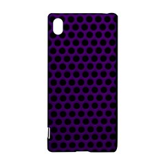 Dark Purple Metal Mesh With Round Holes Texture Sony Xperia Z3+