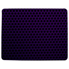 Dark Purple Metal Mesh With Round Holes Texture Jigsaw Puzzle Photo Stand (Rectangular)