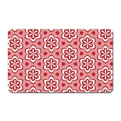Floral Abstract Pattern Magnet (rectangular)