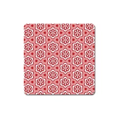Floral Abstract Pattern Square Magnet