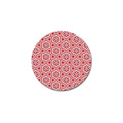 Floral Abstract Pattern Golf Ball Marker