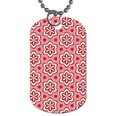 Floral Abstract Pattern Dog Tag (two Sides)