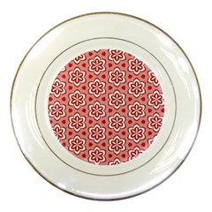Floral Abstract Pattern Porcelain Plates