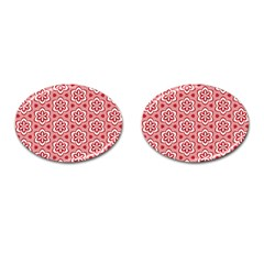 Floral Abstract Pattern Cufflinks (oval)