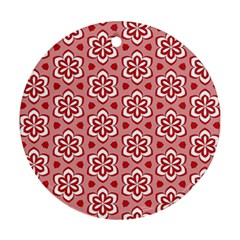 Floral Abstract Pattern Round Ornament (two Sides)