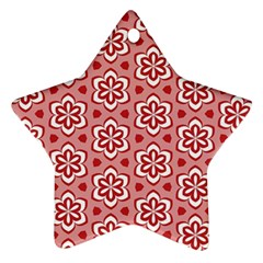 Floral Abstract Pattern Star Ornament (two Sides)