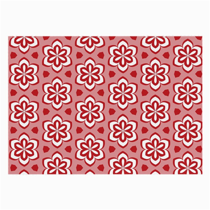 Floral Abstract Pattern Large Glasses Cloth (2-Side)