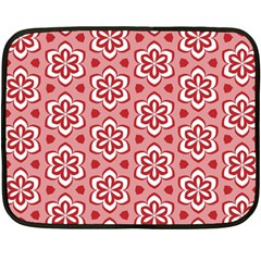 Floral Abstract Pattern Fleece Blanket (mini)