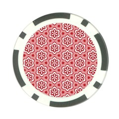 Floral Abstract Pattern Poker Chip Card Guard (10 Pack)