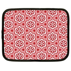 Floral Abstract Pattern Netbook Case (xxl)