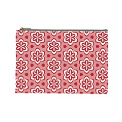 Floral Abstract Pattern Cosmetic Bag (large)