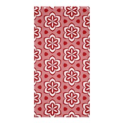 Floral Abstract Pattern Shower Curtain 36  X 72  (stall)