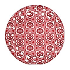 Floral Abstract Pattern Ornament (round Filigree)