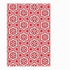 Floral Abstract Pattern Small Garden Flag (two Sides)
