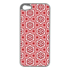 Floral Abstract Pattern Apple Iphone 5 Case (silver)