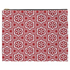 Floral Abstract Pattern Cosmetic Bag (xxxl)