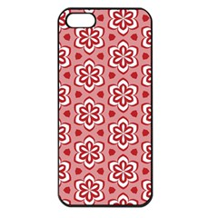 Floral Abstract Pattern Apple Iphone 5 Seamless Case (black)