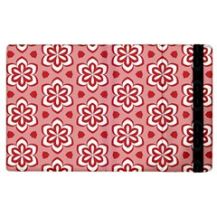 Floral Abstract Pattern Apple Ipad 2 Flip Case