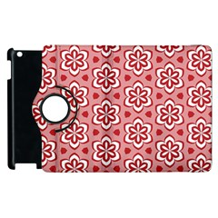 Floral Abstract Pattern Apple Ipad 2 Flip 360 Case
