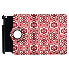 Floral Abstract Pattern Apple Ipad 3/4 Flip 360 Case