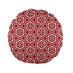 Floral Abstract Pattern Standard 15  Premium Round Cushions