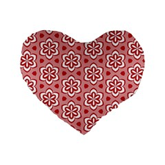 Floral Abstract Pattern Standard 16  Premium Heart Shape Cushions