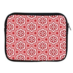 Floral Abstract Pattern Apple Ipad 2/3/4 Zipper Cases