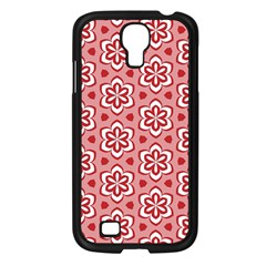 Floral Abstract Pattern Samsung Galaxy S4 I9500/ I9505 Case (black)