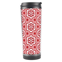 Floral Abstract Pattern Travel Tumbler