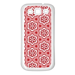 Floral Abstract Pattern Samsung Galaxy S3 Back Case (white)