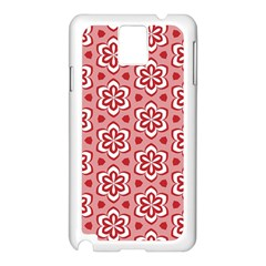 Floral Abstract Pattern Samsung Galaxy Note 3 N9005 Case (white)