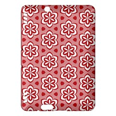 Floral Abstract Pattern Kindle Fire Hdx Hardshell Case