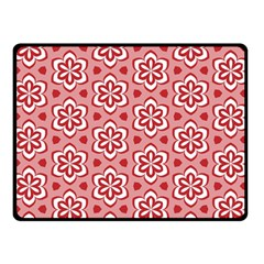 Floral Abstract Pattern Double Sided Fleece Blanket (small)