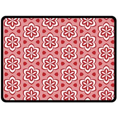 Floral Abstract Pattern Double Sided Fleece Blanket (large)