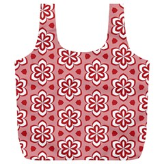 Floral Abstract Pattern Full Print Recycle Bags (l)