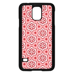 Floral Abstract Pattern Samsung Galaxy S5 Case (black)