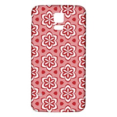 Floral Abstract Pattern Samsung Galaxy S5 Back Case (white)