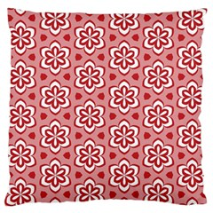 Floral Abstract Pattern Large Flano Cushion Case (one Side)