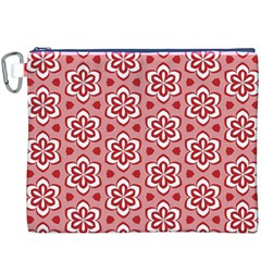 Floral Abstract Pattern Canvas Cosmetic Bag (xxxl)