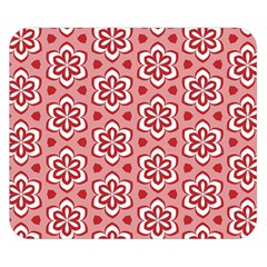 Floral Abstract Pattern Double Sided Flano Blanket (small)