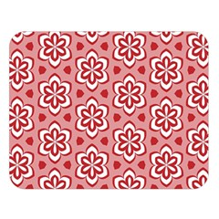 Floral Abstract Pattern Double Sided Flano Blanket (large)