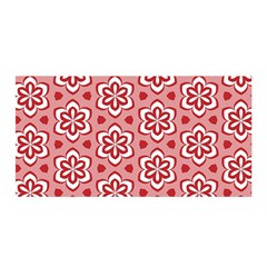 Floral Abstract Pattern Satin Wrap