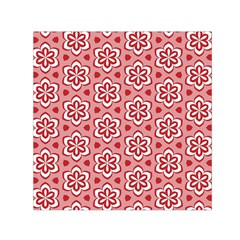 Floral Abstract Pattern Small Satin Scarf (square)