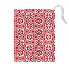 Floral Abstract Pattern Drawstring Pouches (extra Large)