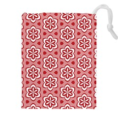 Floral Abstract Pattern Drawstring Pouches (XXL)