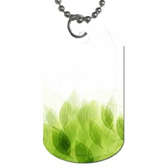 Green Leaves Pattern Dog Tag (one Side)